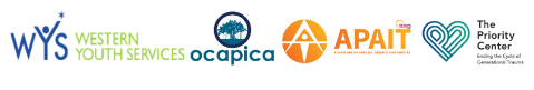 Collaborative Logos for Western Youth Services, Ocapica, APAIT and The Priority Center