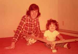 Author Shelley with Uncle Dan circa 1974