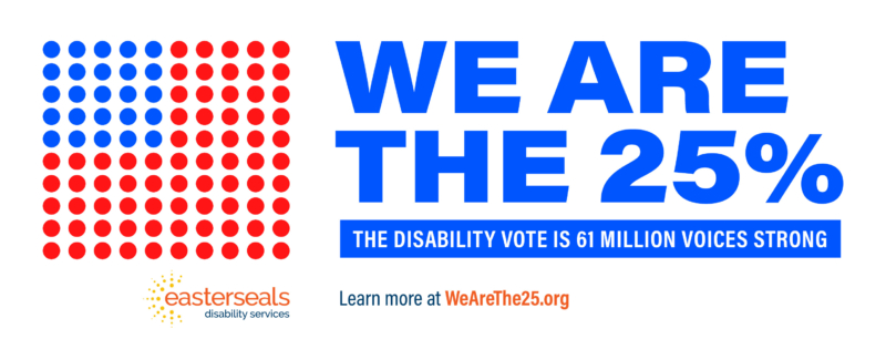 Voting Campaign Banner We Are the 25%