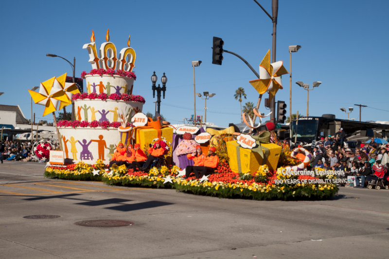 Easterseals 100th anniversary Rose Parade Float.